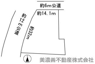 【区画図】50627 岐阜市石原土地