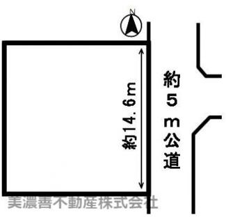 【区画図】52693 岐阜市城田寺土地
