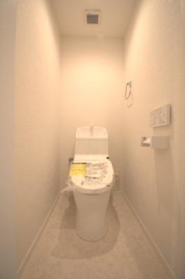 温水洗浄便座付トイレです。