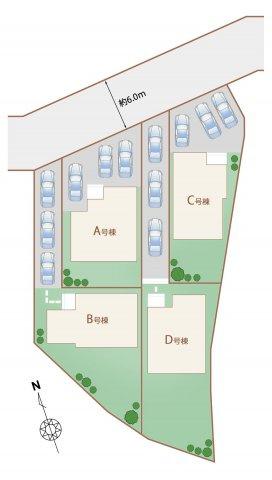 【区画図】うるま市赤道 新築戸建て住宅