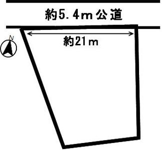 【区画図】52895 岐阜市敷島町土地