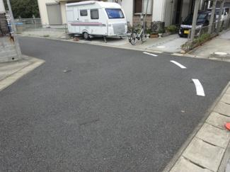 千葉市若葉区加曽利町 中古一戸建て 桜木駅 車通りの少ない見通しの良い道路です!