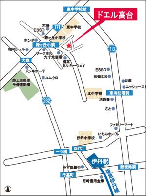【地図】ドエル高台