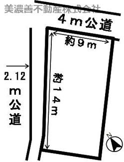 【区画図】28024 岐阜市鷺山土地