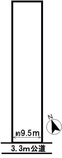 【区画図】33674 羽島市上中町長間土地