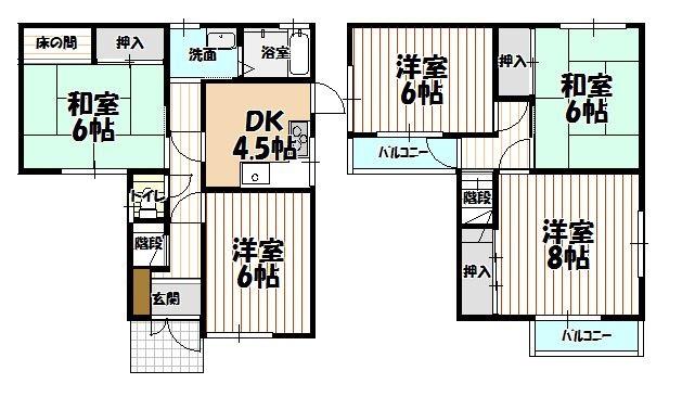 堺市西区上野芝町 中古一戸建て