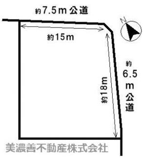 【区画図】42164 岐阜市上土居土地