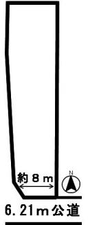 【区画図】43589 岐阜市古市場土地