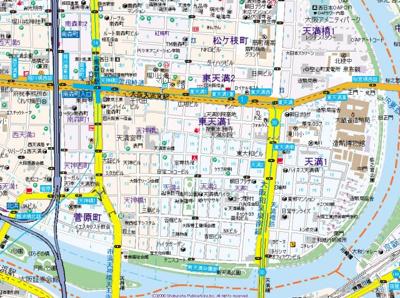 【地図】リーガル天満パークサイド