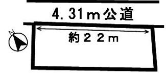 【区画図】45824 各務原市前渡東町土地