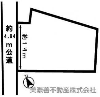 【区画図】47074 各務原市前渡東町土地