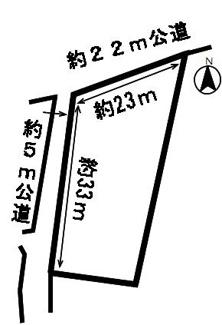 【区画図】50494 安八郡神戸町丈六道土地