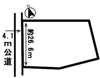 【区画図】44856 岐阜市中屋東土地