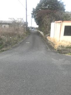 【前面道路含む現地写真】52743 羽島市正木町上大浦土地