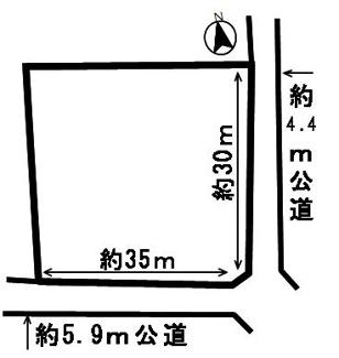 【区画図】52743 羽島市正木町上大浦土地