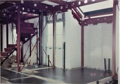 軽量鉄骨ALC構造の特徴(鉄骨軸組ブレース構造とALCコンクリート板で外壁・床・天井の大半を覆う構造)