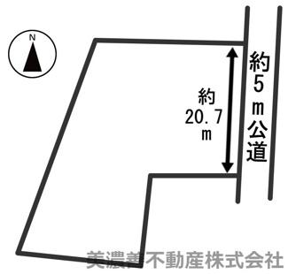 【区画図】30237 山県市佐賀土地