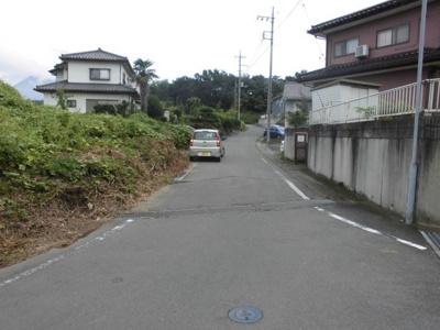 【前面道路含む現地写真】富士見町石井土地