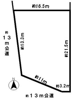 【区画図】40162 岐阜市則武土地