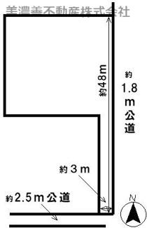 【区画図】40899 揖斐郡池田町六之井土地