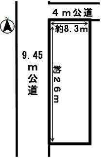 【区画図】43273 岐阜市城望町土地