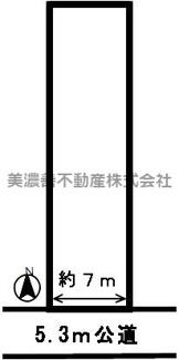 【区画図】44738 各務原市蘇原東島町土地