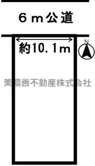 【区画図】39364 岐阜市本荘西土地