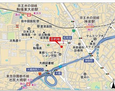 【地図】Branche目黒大橋