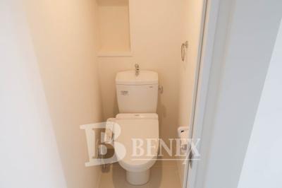 LAPis若松河田のトイレです