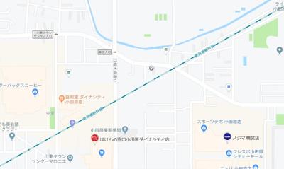 【地図】小田原市前川売地