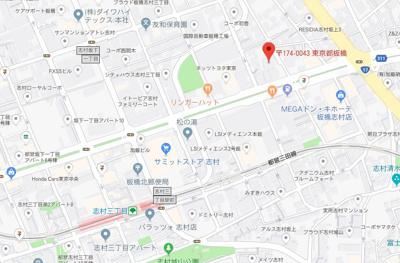 【地図】スカイコート板橋五番館