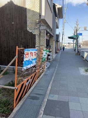 【前面道路含む現地写真】京都市伏見区深草下川原 売り土地