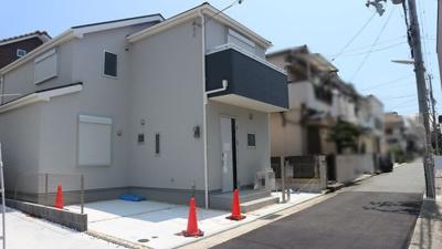 【前面道路含む現地写真】神戸市垂水区北舞子1丁目 1号地 新築戸建