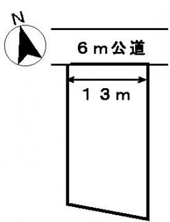 【区画図】30275 岐阜市大蔵台土地