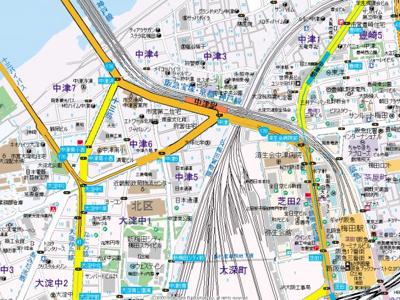 【地図】BRILLER UMEKITA