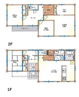 プラン例 建物面積109.30㎡ 建物価格1575万円
