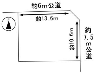 【区画図】49681 岐阜市下奈良土地