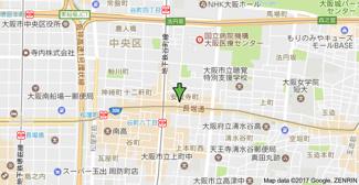 【地図】メゾンルージュ谷町