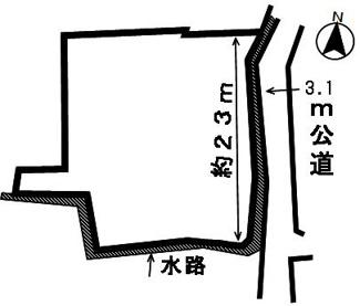 【区画図】46250 安八郡神戸町南方土地