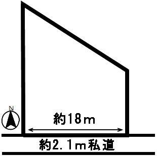 【区画図】50973 羽島市上中町長間土地