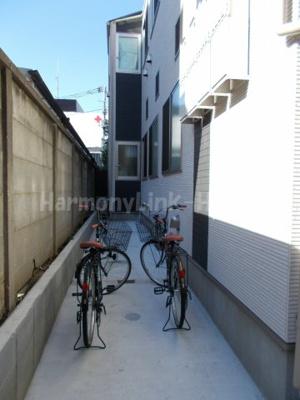 ハーモニーテラス若松町Ⅱの駐輪スペース