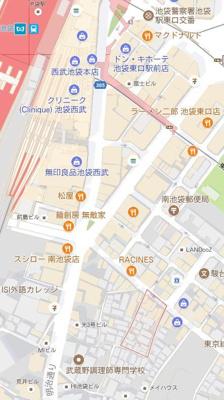 【地図】ハーモニーテラス南池袋Ⅲ