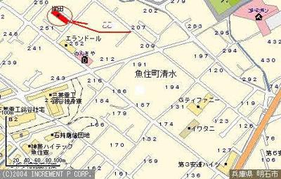 【地図】岸田マンション