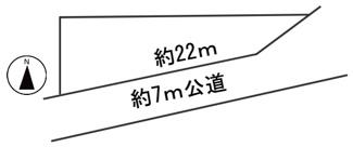 【区画図】37824 岐阜市西荘土地