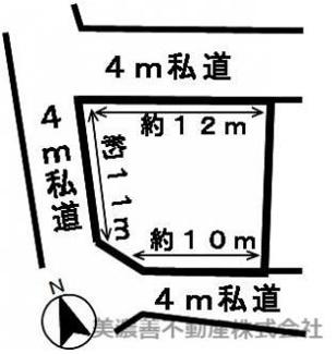 【区画図】45441 岐阜市日野東土地