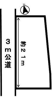 【区画図】36385 岐阜市水主町土地