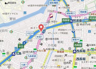 【地図】プレアデス本田