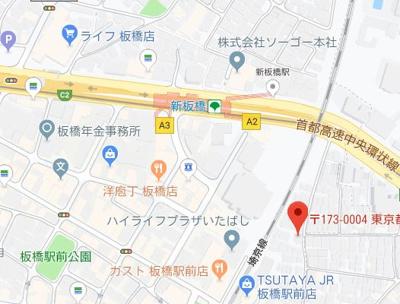 【地図】THE ITABASHI HOUSE
