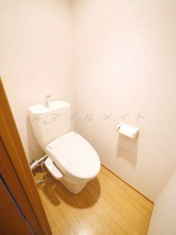 タオル掛け、温水洗浄便座付きトイレ☆