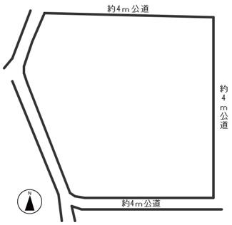 【区画図】42648 山県市東深瀬土地
